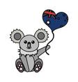 australian koala design vector image