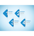 blue option background square vector image vector image