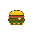 burger outline icon fast food vector image