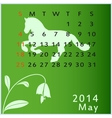calendar 2014 may vector image