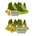 camping concept vector image