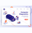 car computer diagnostics service web site vector image vector image
