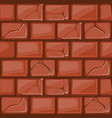 cartoon red stone wall texture vector image vector image