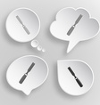 Chisel White flat buttons on gray background vector image vector image