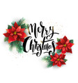 christmas decorated with flowers vector image