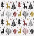 christmas pattern with deer vector image
