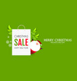 christmas sale design template with cute vector image