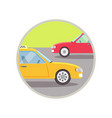 city transport taxi icon vector image