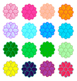 colorful flowers line vector image vector image