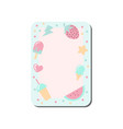 cute card with place for notes decorated with vector image vector image