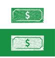 dolar note chalkboard icon chalkboard style vector image vector image