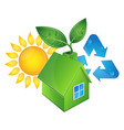 eco house and sun vector image