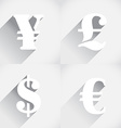 Euro Dollar Pound and Yen vector image vector image