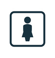 female profile icon Rounded squares button vector image