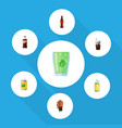 flat icon soda set of cup bottle soda and other vector image vector image