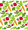 food organic and healthy fruits and vegetables vector image vector image