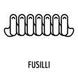 fusilli icon outline style vector image vector image