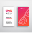 geek maze abstract business card template vector image