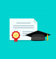 graduation tuition diploma concept flat vector image