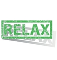 Green outlined RELAX stamp vector image vector image