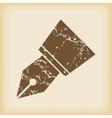 Grungy ink pen nib icon vector image vector image