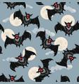 halloween bat background vector image vector image