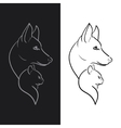 Hand Drawn Dog and Cat Sketched vector image