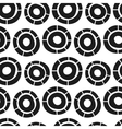 hand drawn simple circles seamless pattern vector image vector image