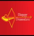 happy dussehra festival poster or greeting design vector image