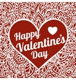 Happy Valentines Day congratulation card with vector image vector image