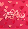 happy valentines day design card vector image vector image