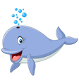 Happy whale cartoon vector image vector image