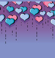 heart symbol of love and passion background vector image