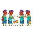indian old woman shopping elderly people vector image