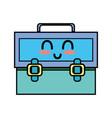 kawaii cute happy suitcase design vector image vector image