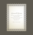 laser cut greeting card vector image vector image