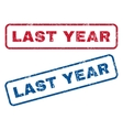 Last Year Rubber Stamps vector image vector image