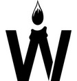 letter w wax candle logo vector image