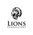 lions head vector image vector image