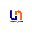 ln pipe letter logo icon design vector image vector image