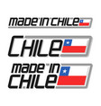 made in chile vector image