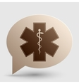 Medical symbol of the Emergency - Star of Life - vector image vector image