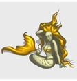Mermaid image with golden hair and tail vector image vector image