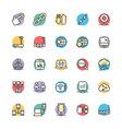 Networking Cool Icons 3 vector image vector image
