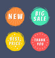 new big sale best price thank you text paint spot vector image vector image