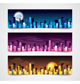 night city banners vector image vector image