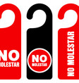 No molestar do not disturb signs vector image