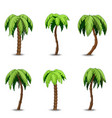 palm trees clip art set vector image