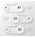 paper gears infographic 4 vector image