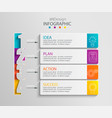 paper infographic template with 4 options vector image vector image